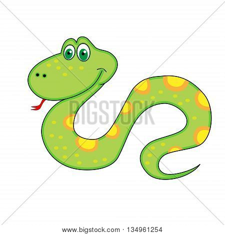 New Year's Symbol Of Snake With Tongue