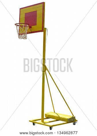 Portable basketball hoop board isolated on white background
