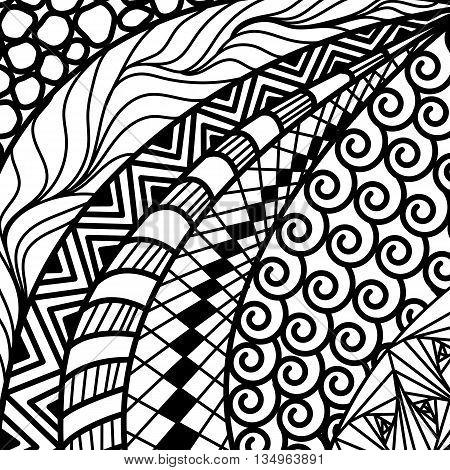 Artistically ethnic pattern. doodle, zentangle tribal design element