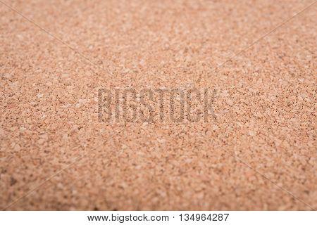 Close Up Blank Cork Wooden Board