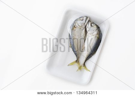 Top View Isolated Couple Delicious Steamed Mackerel
