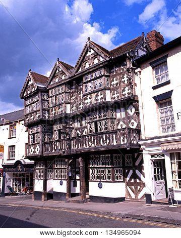 LUDLOW, UNITED KINGDOM - MAY 26, 1997 - The Feathers Hotel along Bull Ring Ludlow Shropshire England UK Western Europe, May 26, 1997.