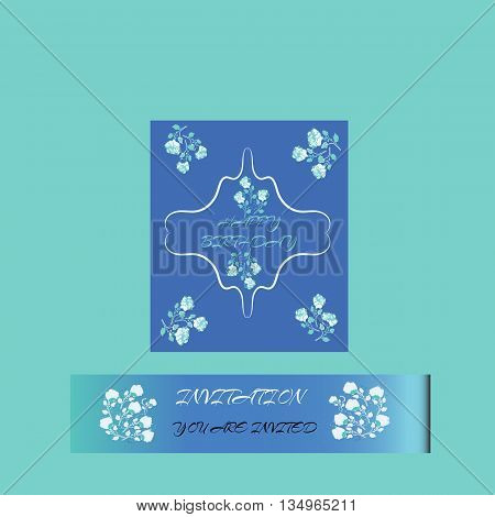 Happy Birthday card, for banner, flyer, brochure, gift certificate party invitation Vector