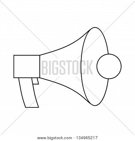 Megaphone, loudspeaker icon in outline style on a white background