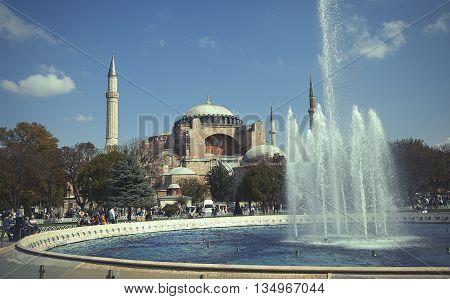 Hagia Sophia on Sultanahmet Square in Istanbul