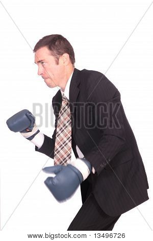 Boxing Business Man