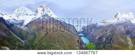 Cordillera Blanca - mountain Huascaran in Peru