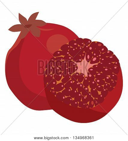 Pomegranate whole and peeled - a useful vegetable food