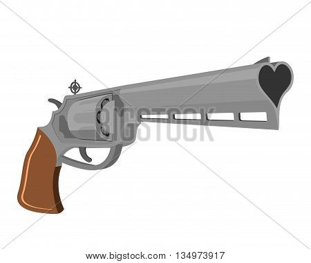 Love Gun. Weapons for shooting kisses. Magnum heart