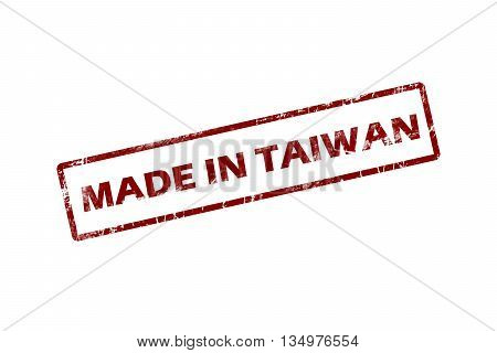 made in Taiwan red square vintage stamp.Taiwan stamp.Taiwan seal.Taiwan tag.Taiwan.Taiwan sign.Taiwan