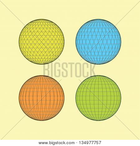 geometry vector illustrator, simple geometry, circle art