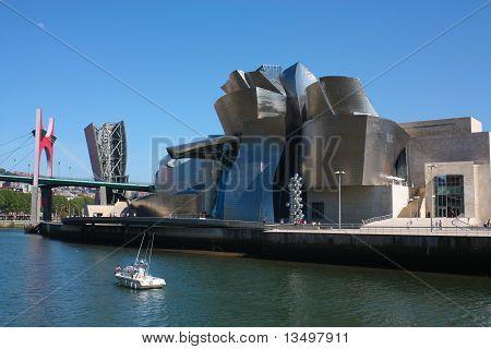 Bilbao Nervión River. Spain