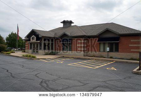 SHOREWOOD, ILLINOIS / UNITED STATES - AUGUST 30, 2015: The First Federal Savings Bank offers banking services in Shorewood.