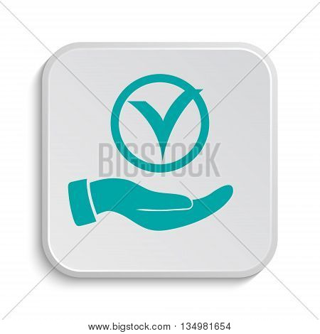 Tick With Hand Icon