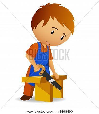 Carpinteiro de desenhos animados