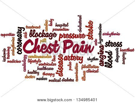 Chest Pain, Word Cloud Concept