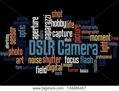Dslr Camera, Word Cloud Concept 5