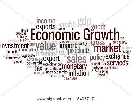 Economic Growth, Word Cloud Concept 9