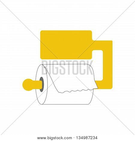 Toilet paper on a white background. Vector illustration