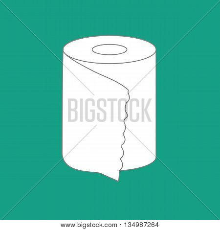 Toilet paper on a green background. Vector illustration
