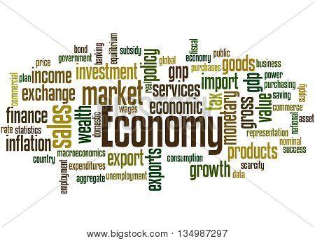 Economy, Word Cloud Concept 3