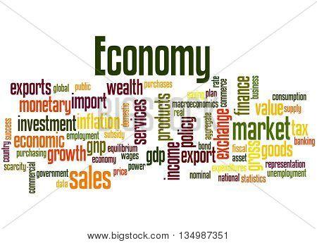 Economy, Word Cloud Concept 4
