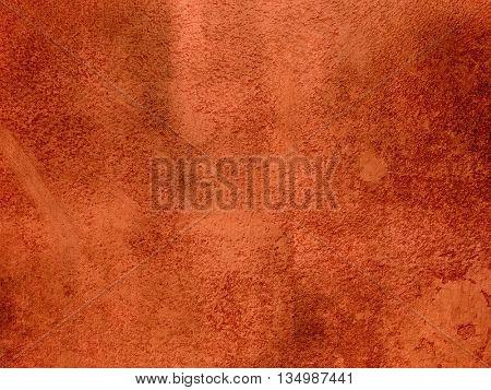 Rust orange red background abstract - dark terracotta plaster wall texture
