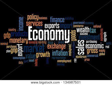 Economy, Word Cloud Concept 7