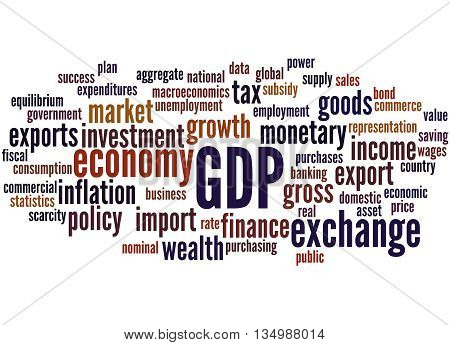 Gdp - Gross Domestic Product, Word Cloud Concept 8