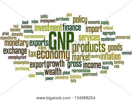 Gnp - Gross National Product, Word Cloud Concept 3