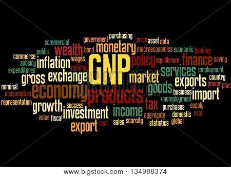 Gnp - Gross National Product, Word Cloud Concept 5