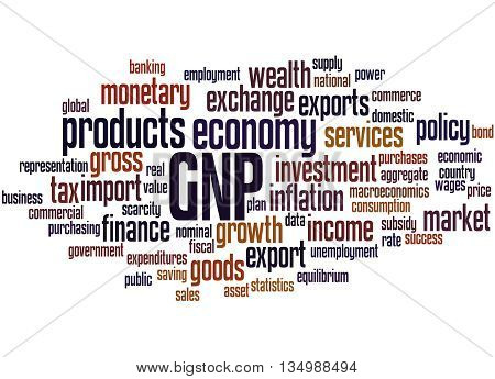 Gnp - Gross National Product, Word Cloud Concept 7