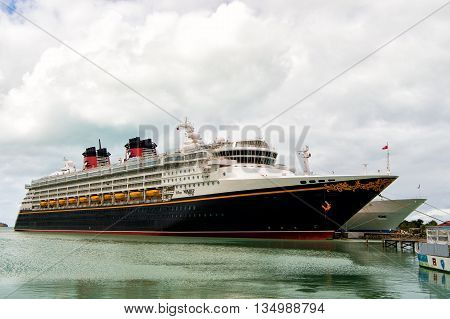 Big Cruise Ship Disney Wonder