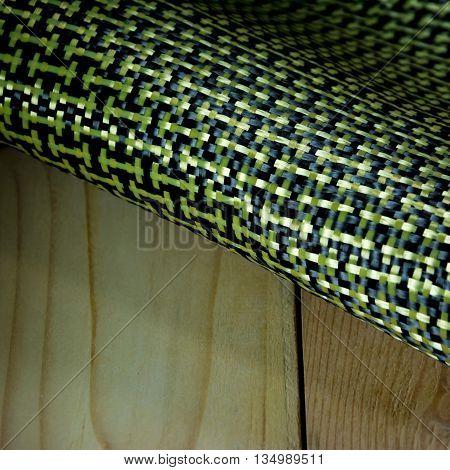 aramid kevlar fiber composite raw material background
