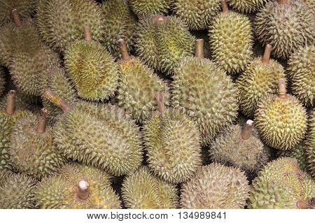 Group of Durian on the Thailand market