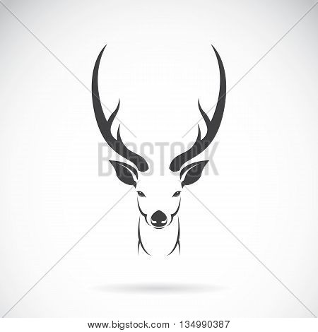Vector image of an deer head design on white background Vector deer head for your design.