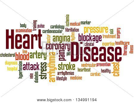 Heart Disease, Word Cloud Concept 3