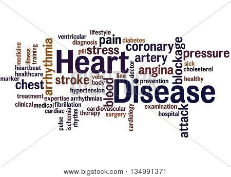 Heart Disease, Word Cloud Concept 8