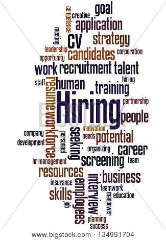 Hiring, Word Cloud Concept