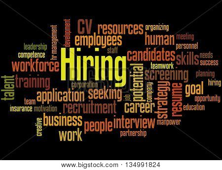Hiring, Word Cloud Concept 5