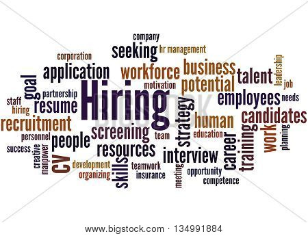 Hiring, Word Cloud Concept 8
