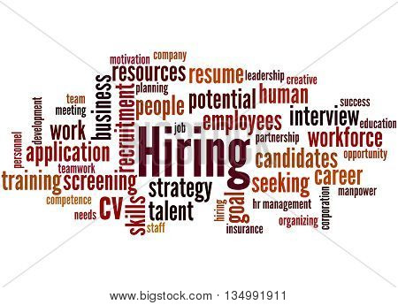 Hiring, Word Cloud Concept 9