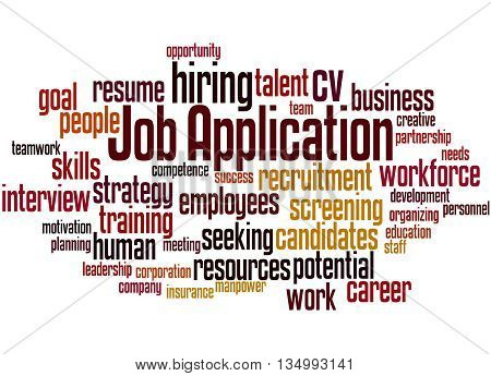 Job Application, Word Cloud Concept 2