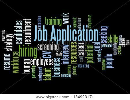 Job Application, Word Cloud Concept 3