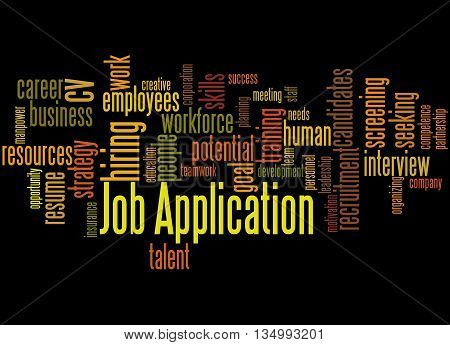 Job Application, Word Cloud Concept 4