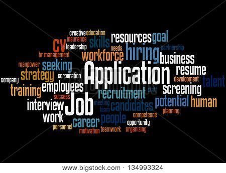 Job Application, Word Cloud Concept 7
