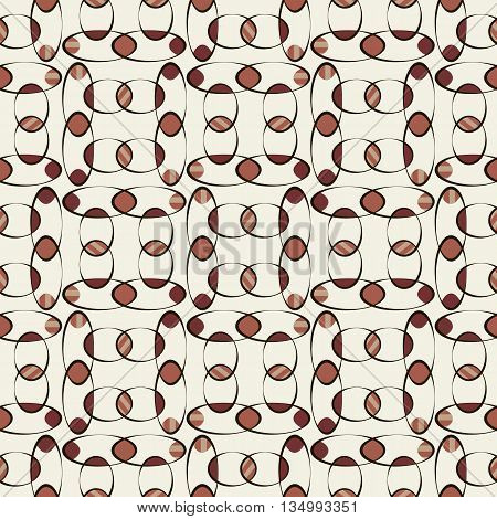 Background vector illustration seamless pattern of colored ovals.