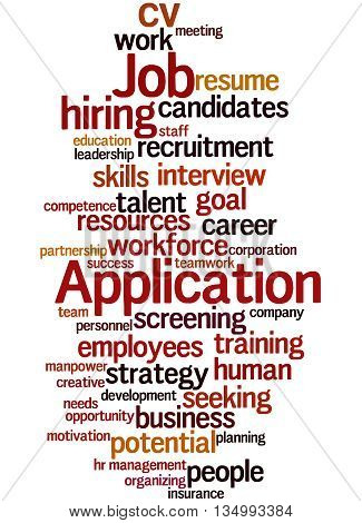 Job Application, Word Cloud Concept 9