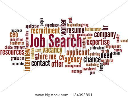 Job Search, Word Cloud Concept 2