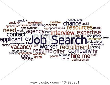 Job Search, Word Cloud Concept 4